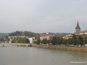 Riverside in Verona