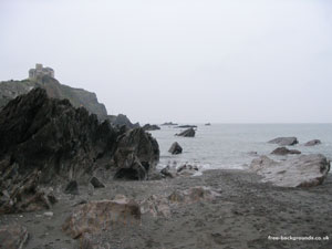 Rocks and Beach at Ilfracombe