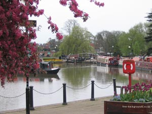 Canal boats in Stratford-Upon-Avon